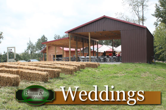 Weddings in the Hocking Hills at Brimstone Ridge